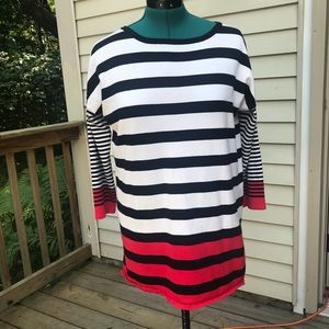 Cable & Gauge Striped Sweater on Poshmark